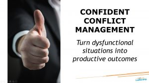 Confident conflict management - In-house workshop - leadership skills - Melbourne