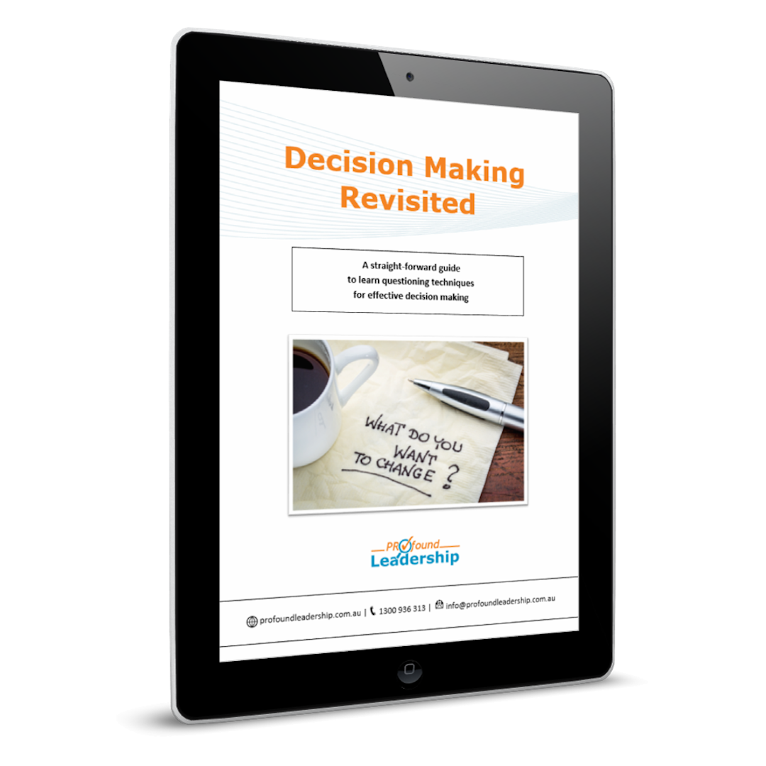 Decision Making Cover image - Smart decisions - Procrastinating - Professional Development - Leadership Skills - Resource - Downloadable PDF