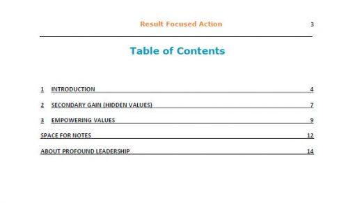 Result Focused Action TOC - Professional Development - Leadership Skills - book - resource - pdf download