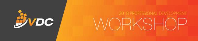 VDC Workshops Banner for Events - Professional Development